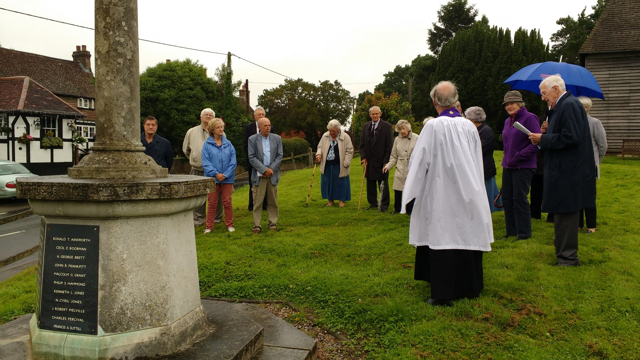 Commemorating the battle of the Somme at Newdigate